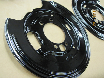 Disc brake shields in Ink Black