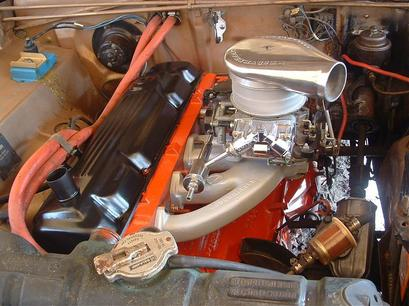 Mike's engine bay with lots of PSC work (see Gallery page for details)