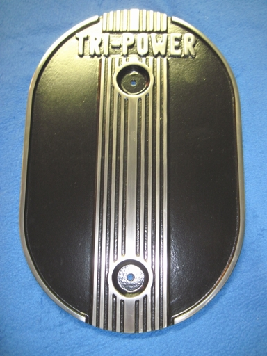 Custom Tri-Power air cleaner lid in Desert Nite Black
