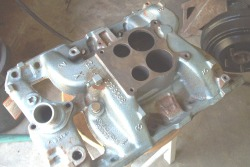 'Before' photo of Pontiac intake manifold