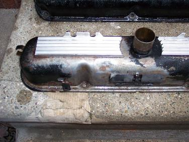 'Before' picture of Mike's HP273 Commando valve covers (photo courtesy of Mike W.)