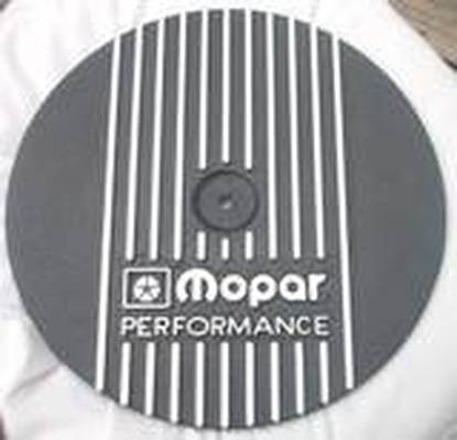 Custom Mopar Performance air cleaner lid in Wetstone Black