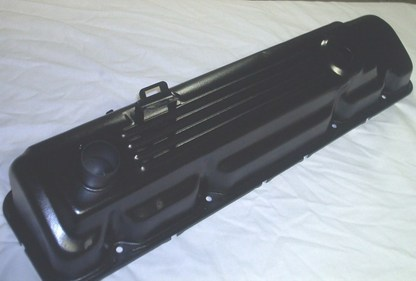 Slant 6 Mopar valve cover in Wetstone Black (wrinkle)