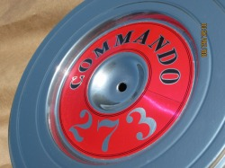 Commando 273 air cleaner lid in Super Chrome