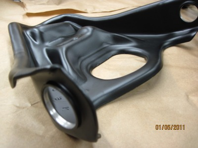 Close up of Pontiac control arm in Silk Satin Black