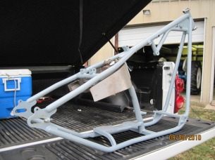 'Before' photo of custom bike frame