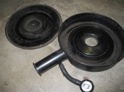 'Before' photo of Mopar factory air cleaner
