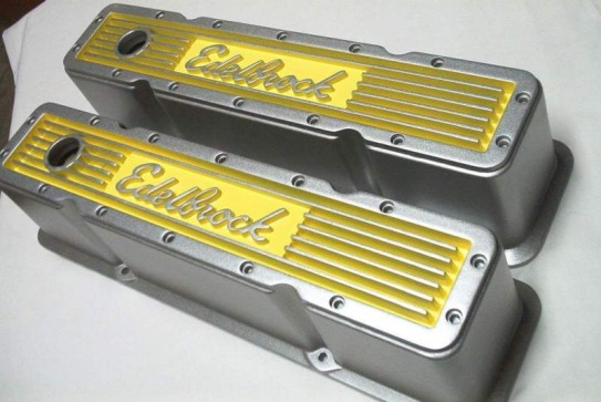 Edelbrock Elites in Alien Silver over Sunshine Yellow