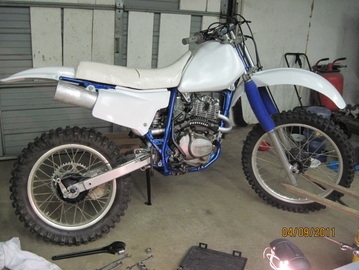 PSC's '90 Honda XR200 dirt bike project (see the Gallery / Motorcycle Parts for more)