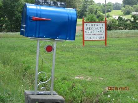 Look for our Viper Blue custom mailbox ... you can see it from Highway 45E!