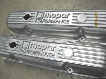 'Before' photo of big block Mopar valve covers