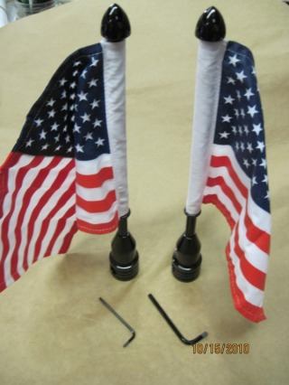 ProPad Harley flag pole set in Ink Black