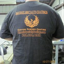 Our pal James C. modeling a PSC t-shirt