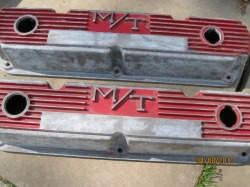 'Before' photo of Mickey Thompson Mopar valve covers
