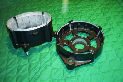 Bosch alternator housing in Silk Satin Black